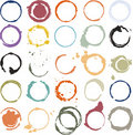 Multicolored grungy circles Royalty Free Stock Photo