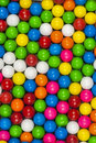 Multicolored gum balls arranged pattern Royalty Free Stock Images
