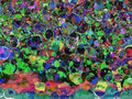 Multicolored holiday abstract bubbles background. Royalty Free Stock Photo