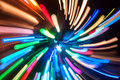 Multicolored holiday lights abstract background of defocused Stock Photos
