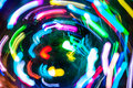 Multicolored holiday lights abstract background of defocused Royalty Free Stock Photo