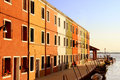 Multicolored houses, Burano Island, Venice, Italy. Stock Photo