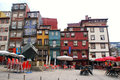 Multicolored houses on ribeira square porto portugal may at may in the historic centre of was declared a Stock Image