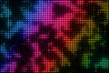 Multicolored lights on the black background abstract Stock Photo