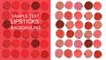 Multicolored lipsticks cut pattern Royalty Free Stock Photo