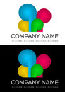 Multicolored logo vector this is suitable for any company Stock Photography