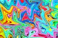 Multicolored marbling paint swirls background.
