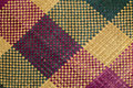 Multicolored mat handmade malaysian traditional Royalty Free Stock Image