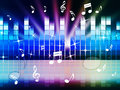Multicolored music background shows playing tune or metal showing Stock Photography