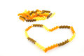 Multicolored pasta heart lined isolated on a white background Royalty Free Stock Photo