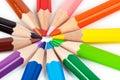 Multicolored pencils Stock Photos