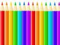 Multicolored pencils on the white background Royalty Free Stock Image