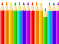 Multicolored pencils on the white background Royalty Free Stock Photos
