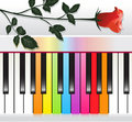 Multicolored piano background Royalty Free Stock Photography