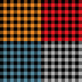 Multicolored plaid samples fabric in vector Royalty Free Stock Photo