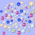 Multicolored rhinestones crystals of different sizes Stock Photography