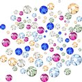 Multicolored rhinestones crystals of different sizes Royalty Free Stock Photos