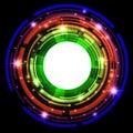 Multicolored round frame