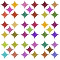 Multicolored seamless pattern over white