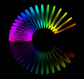 Multicolored slinky Stock Photo