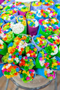 Multicolored small flowers bright bouquets of Royalty Free Stock Photos