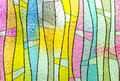 Multicolored stained glass church window portrait orientation Royalty Free Stock Photo
