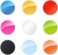 Multicolored star badges Stock Images