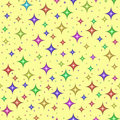Multicolored stars, seamless pattern Stock Photos