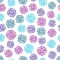 Multicolored sun flower seamless pattern background.