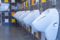 Multicolored Tiled Urinal Royalty Free Stock Photo