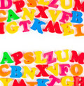 Multicolored toy letters Royalty Free Stock Photo