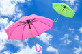 Multicolored umbrella Royalty Free Stock Photo
