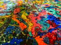 Multicolored universe collection, a piece of abstract art with fine details.