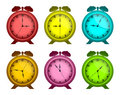Multicolored watches. Royalty Free Stock Photography