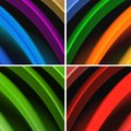 Multicolored waves abstract background Stock Image