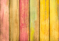 Multicolored wood background - Vintage Texture Royalty Free Stock Photo