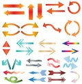 Multicolors arrow icon on white background. Royalty Free Stock Photo