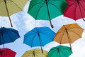 Multicolors umbrellas photo of photo for business concepts financial concepts security concepts and many other Royalty Free Stock Images