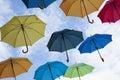Multicolors umbrellas Royalty Free Stock Photo
