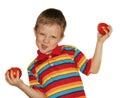 Multicolour boy Stock Image
