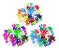 Multicolour Pushpins Stock Image