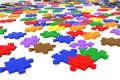 Multicolour puzzle pieces Stock Photo