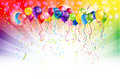 Multicoloured background with balloons and space for text Royalty Free Stock Image