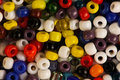Multicoloured beads Stock Images