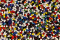 Multicoloured beads Royalty Free Stock Photo