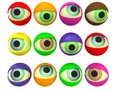 Multicoloured eyes Stock Photography