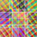 Multicoloured patterned texture in the form of square tiles Stock Photo