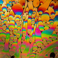 Multicoloured psychedelic soap bubble abstract background Royalty Free Stock Photo