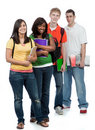 Multicultural College Students Royalty Free Stock Photos