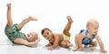 Multiethnic babies Royalty Free Stock Photo